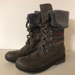 Rocket Dog Suri Horizon Fur Knit Leather Boot 8